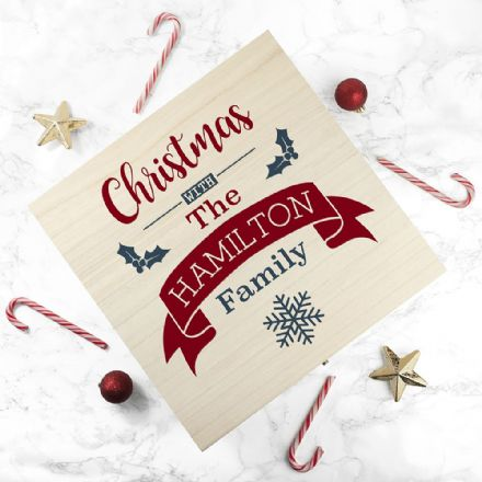 Personalised Our Family's Wooden Christmas Eve Box - Large